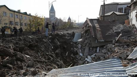 The governments of Armenia and Azerbaijan accuse each other of deliberately bombing civilian targets. For example, part of the city of Shusha in Nagor...