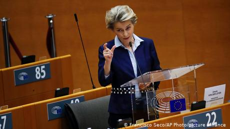 Von der Leyen told lawmakers a path to a deal remained, but was rocky