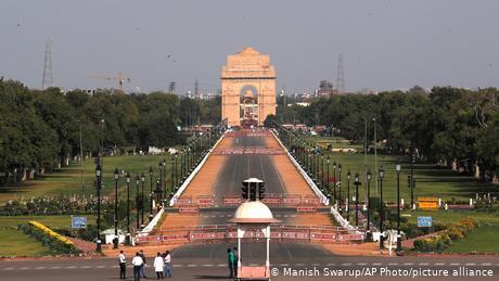 The Rajpath boulevard in New Delhi