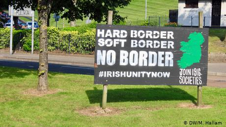 This sign in Derry, Northern Ireland, called Londonderry by unionists, calls for reunification with Ireland
