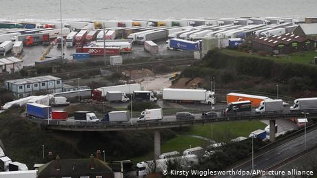 Some truck drivers have been waiting to travel to France since Sunday
