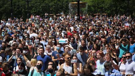 Protests against Vladimir Putin rock Russia's Khabarovsk
