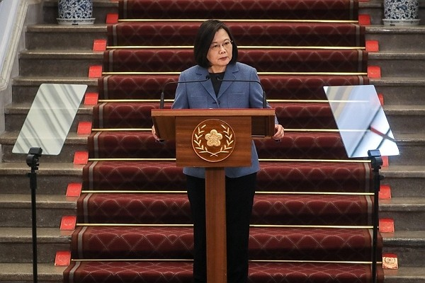 President Tsai Ing-wen delivers New Year's address.