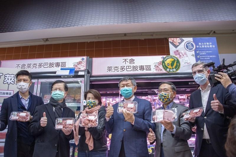 台北市長柯文哲視察量販店生鮮肉品區(圖/台北市政府)
