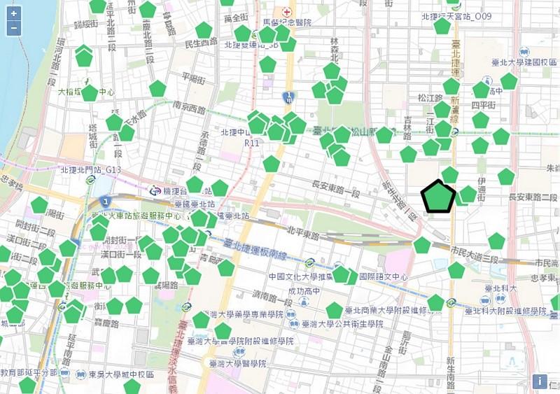 Map for eateries using Taiwanese pork (Website screenshot)