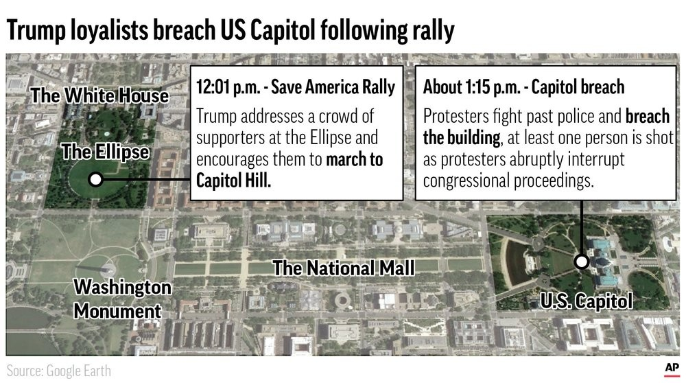 Pro-Trump mob storms US Capitol in bid to overturn election