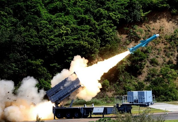 Hsiung Feng IIE missile. (NCSIST photo)