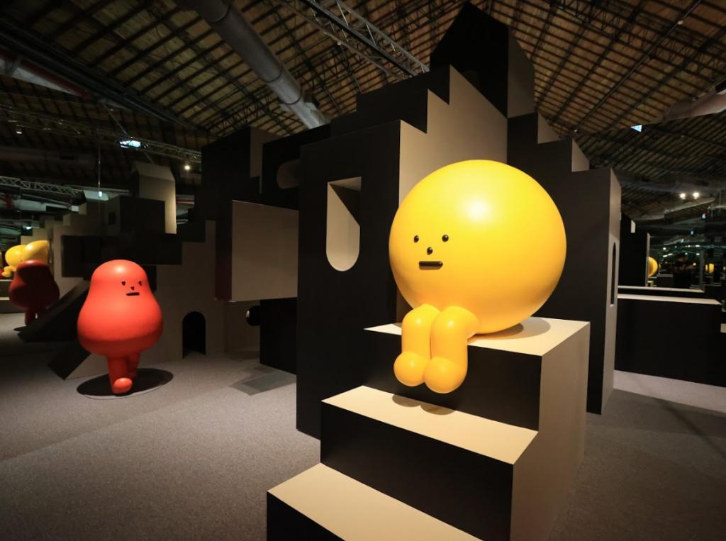 《黏黏怪物研究所:登入計劃特展》展區(圖/主辦單位)