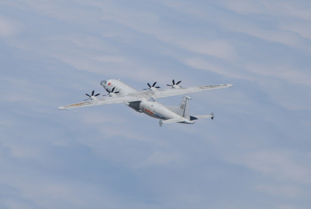 Chinese Y-8 on Jan. 11 (MND photo)