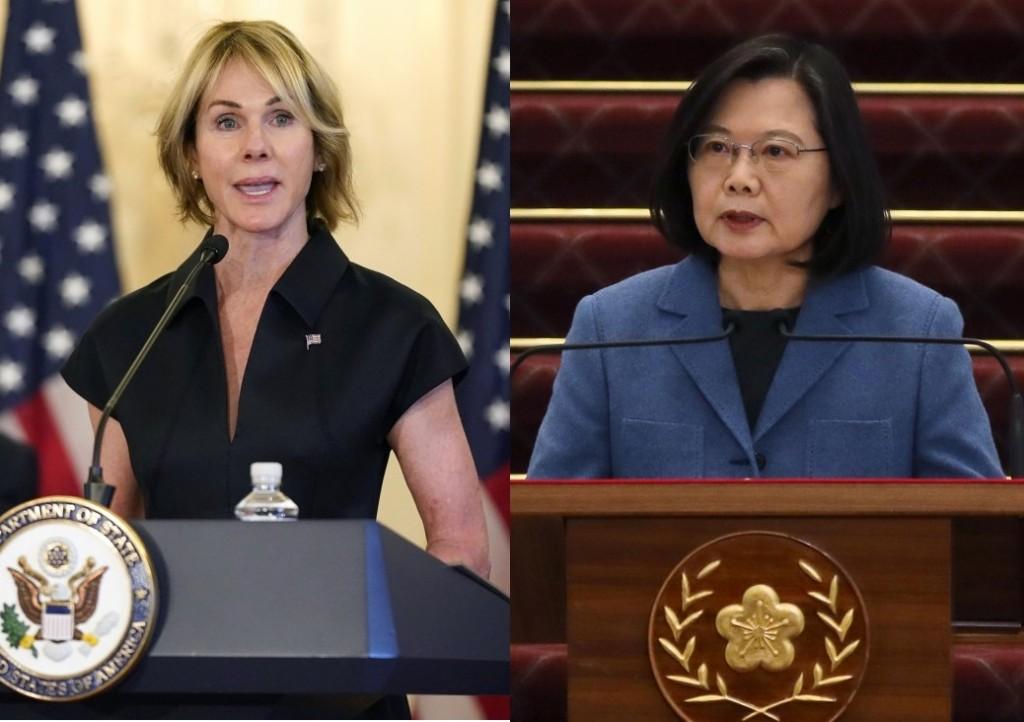UN envoyKelly Craft, President Tsai Ing-wen (AP, CNA photos)