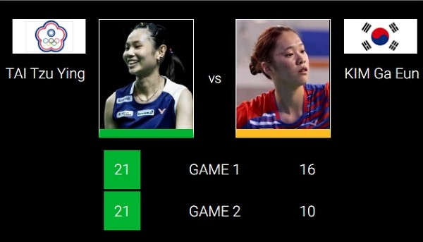 Taiwan badminton queen cruises into quarter-finals at Thailand Open