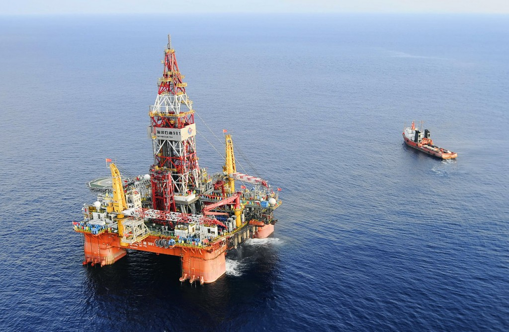 Cnooc's 981 oil rig is pictured in the South China Sea.