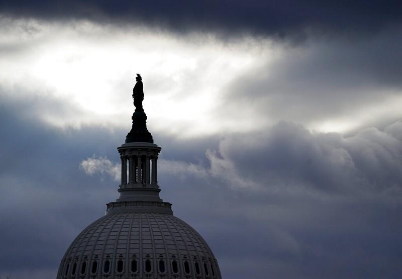 美國國會大廈青銅自由女神雕像(圖/美聯社)