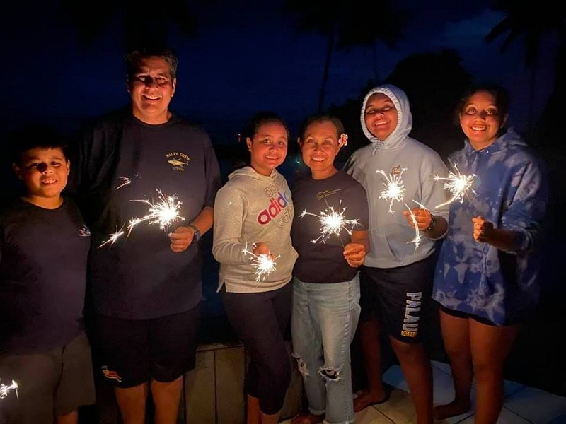 Surangel Whipps Jr. (second left) (Facebook photo)