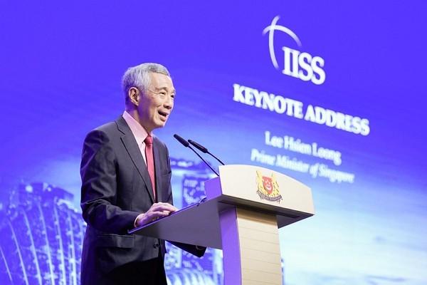 Singaporean Prime Minister Lee Hsien Loong delivers keynote speech at 2019Shangri-la Dialogue.