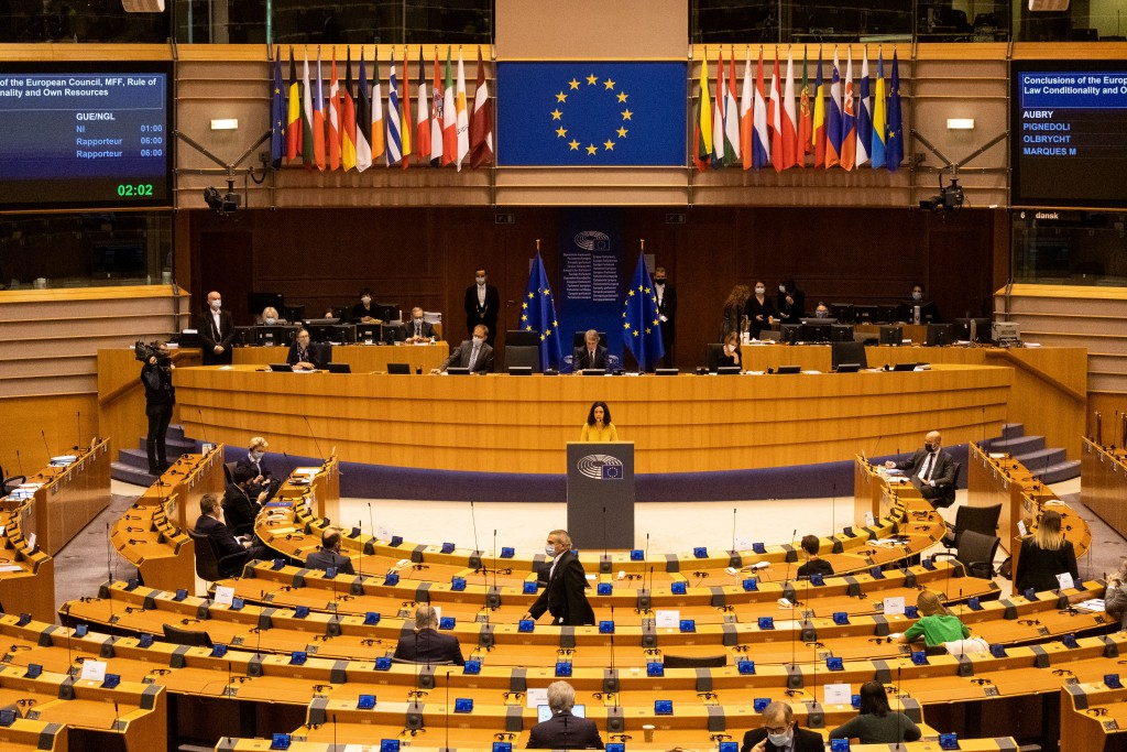December plenary session at European Parliament in Brussels. (Reuters photo)