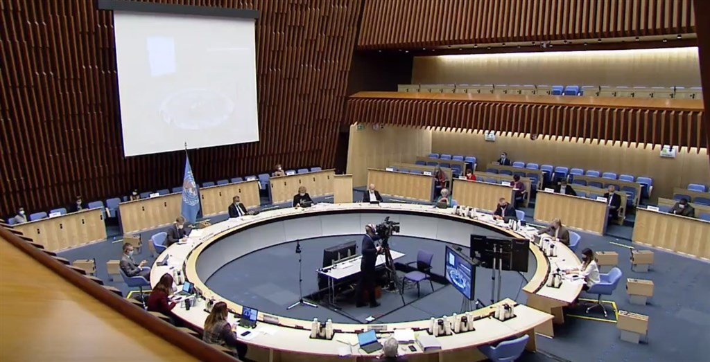 WHO Executive Board meeting (Twitter, @WHO photo)