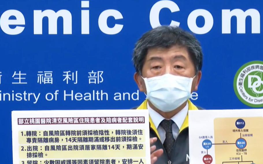 截圖自中央流行疫情指揮中心1/20直播記者會。