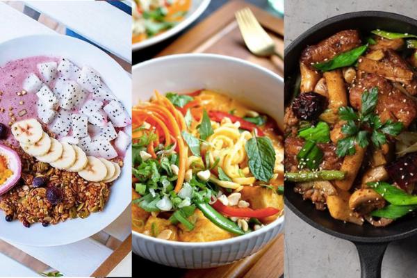 Vegan dishes (Instagram, OohChaCha/Herbivore/LittleTreeFood photos)