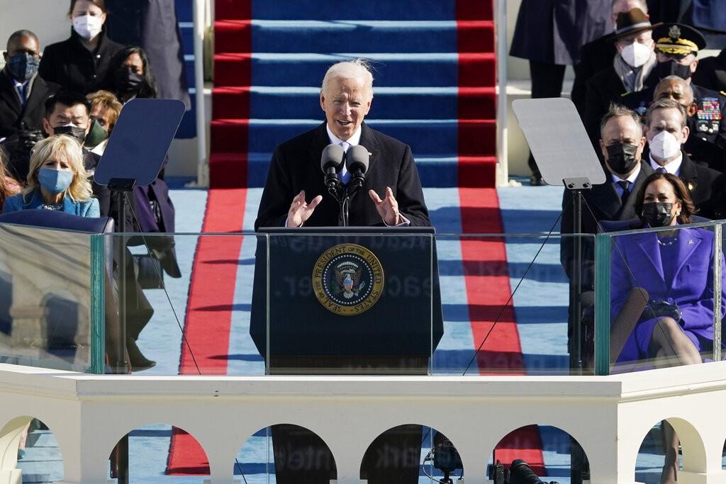 美國新任總統拜登演說(美聯社圖片)