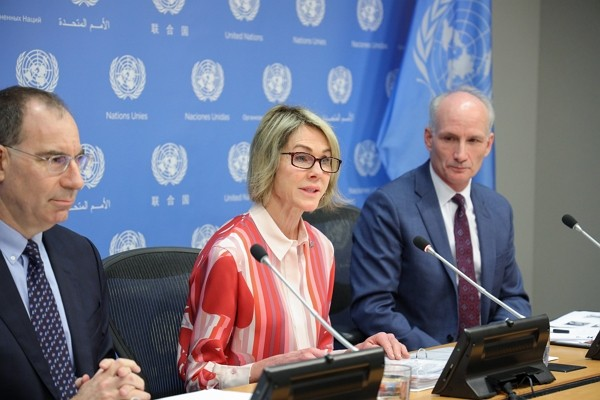 U.S. Ambassador to the UN Kelly Craft (center). (U.S. Mission to the UNphoto)