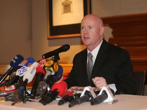 Stephen Yates during a visit to Taiwan