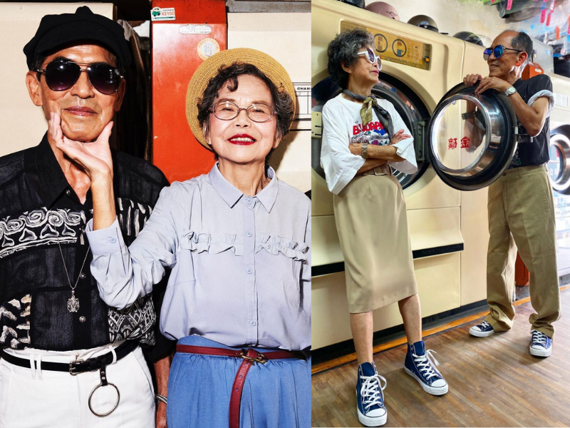 Taiwanese octogenarian couple want to dedicate their fame towards social welfare. (Instagram, wantshowasyoung photo)