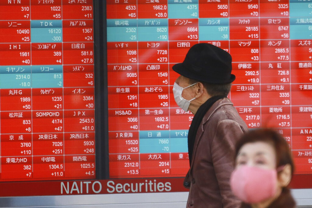 World shares mostly higher as investors focus on US stimulus