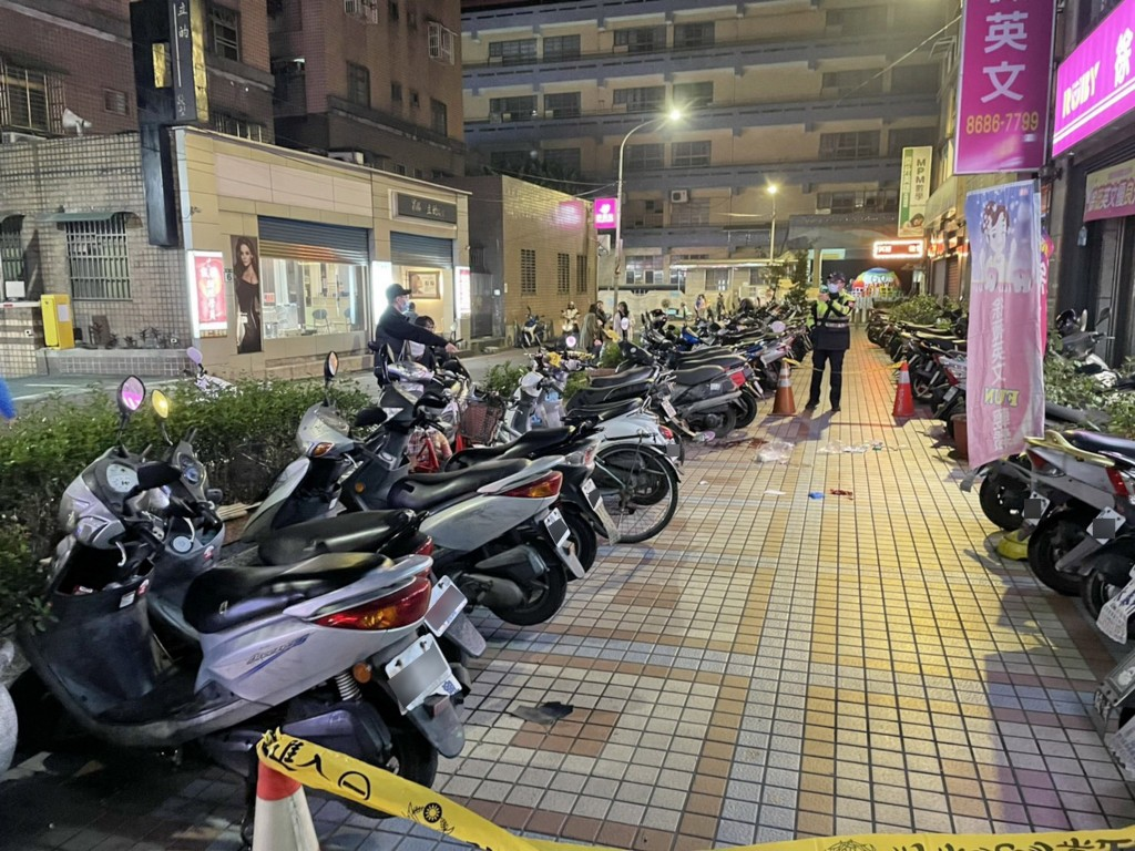 The scene of the incident in New Taipei City