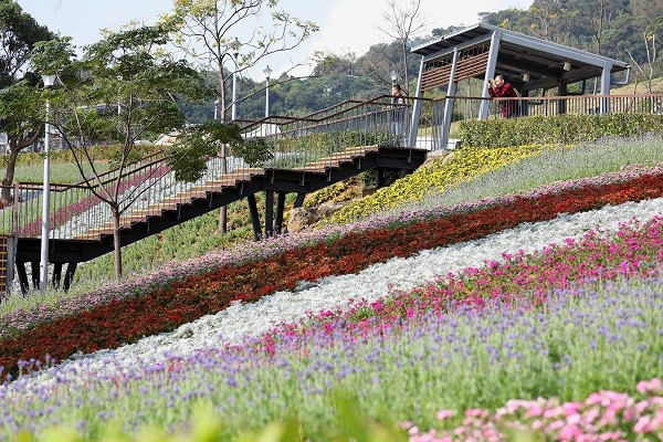 A variety of flowers blooming at Ki-Pataw Shan-Tseng-Chi Park in Beitou (PLSO photo)