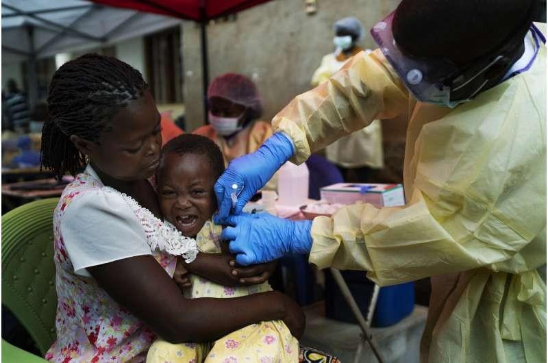剛果民主共和國2019年展開伊波拉疫苗接種工作(圖/美聯社)