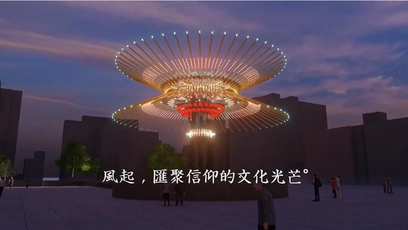 台灣燈會主燈「乘風逐光」預計6月14日端午節期間點燈祈福,優先考量高鐵新竹站周邊場地。(圖/擷取自觀光局YouTube影片)