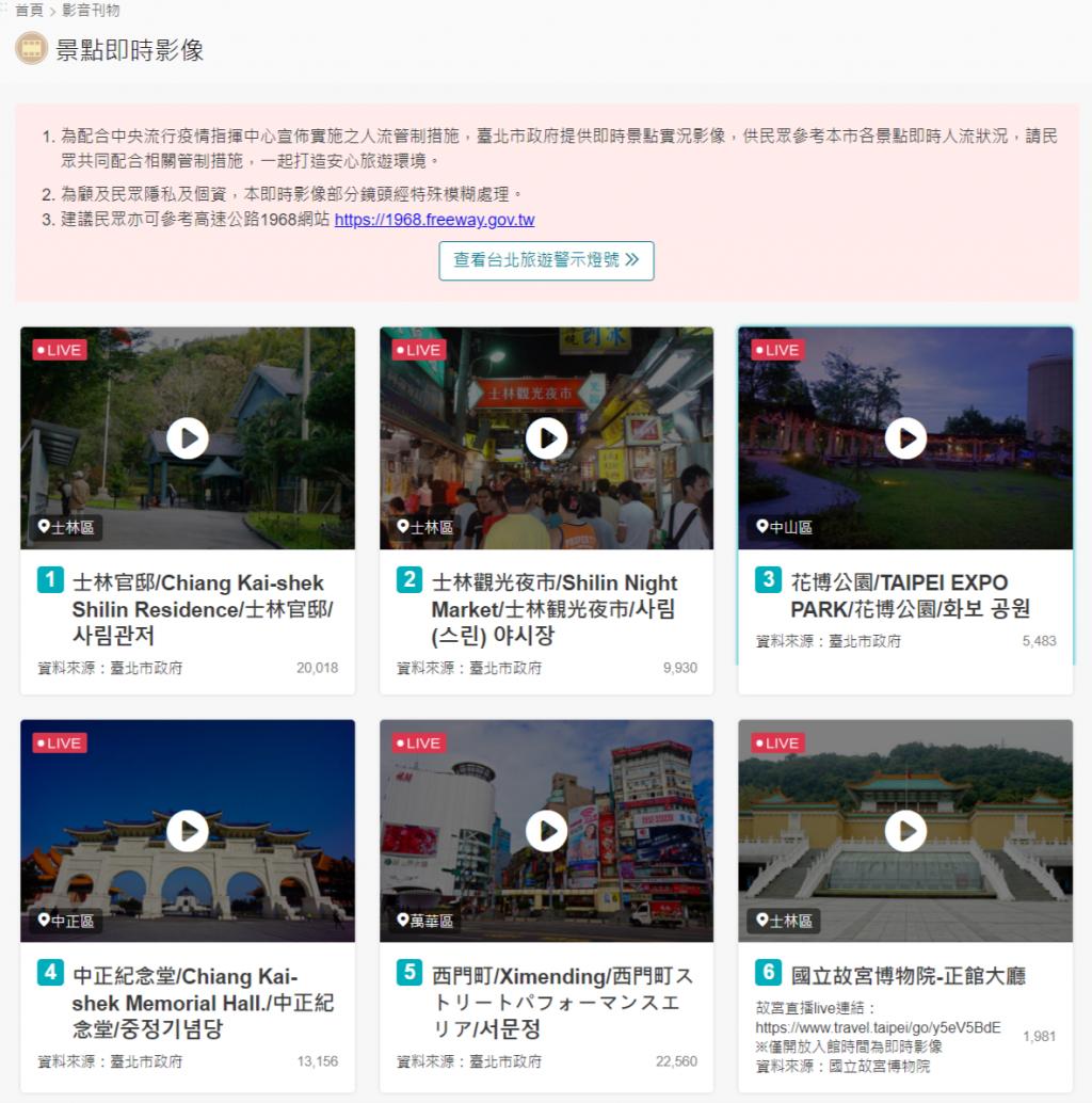 台北市19處景點旅遊警示燈號10日上線 人潮擁擠程度分3色