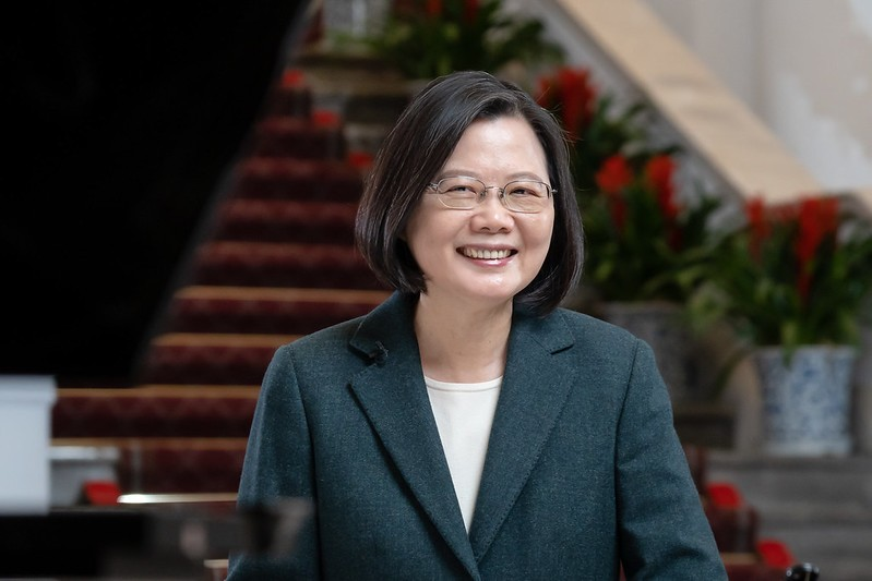Taiwan President Tsai Ing-wen was elected for a second term in January 2020. (Office of the President photo)