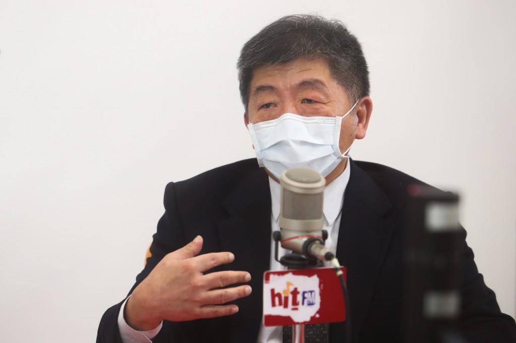 中央流行疫情指揮中心指揮官陳時中17日上午接受電台 專訪。
