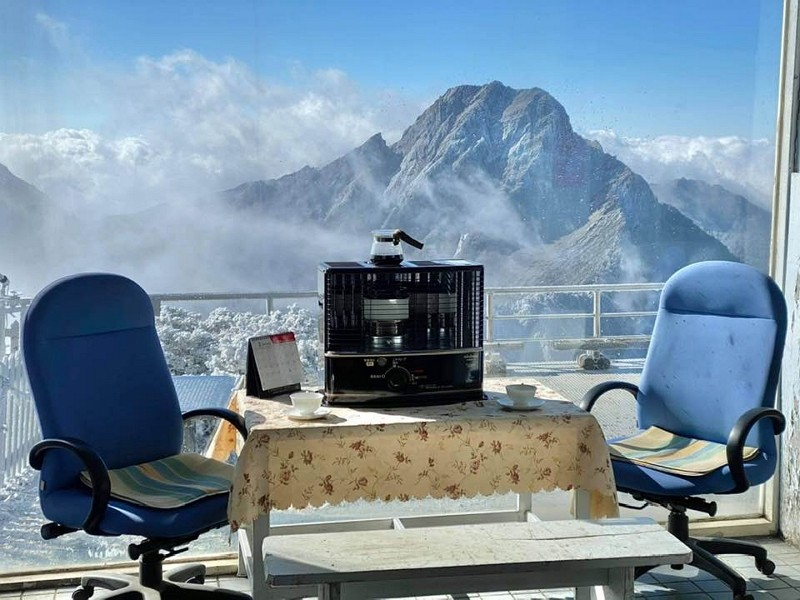 A view from Yushan weather station (Facebook, Cheng Ming-dean)