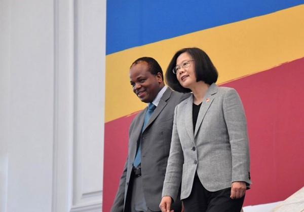 King Mswati III of Eswatini and Taiwan President Tsai Ing-wen.