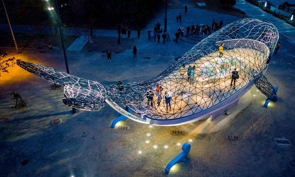 Whale installation in southern Taiwan wins US lighting ...