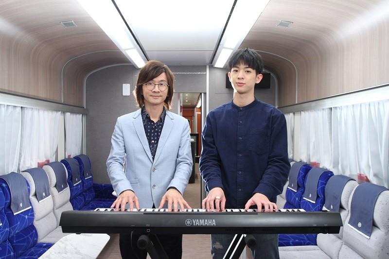台鐵打造鳴日號音樂列車,邀請知名音樂人林隆璇(左)與人氣歌手林亭翰(右)攜手開唱,預計4月出發第一個車次。(雄獅旅遊提供)中央社