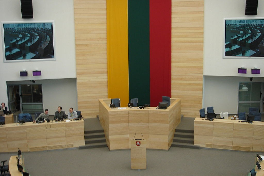 Inside Lithuania's parliament (Wikicommons, AndreasLT photo)