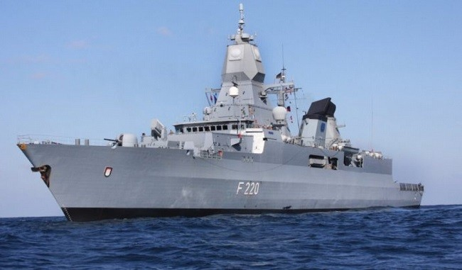 German Sachsen-class frigate the Hamburg (Bundeswehr photo)