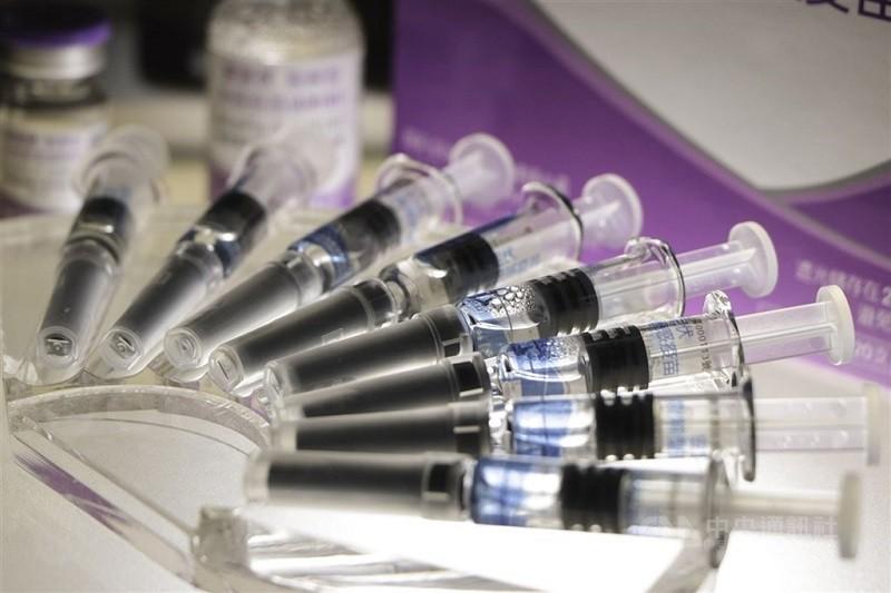 示意照為台灣國光生技單劑流感疫苗。(中央社檔案照片)