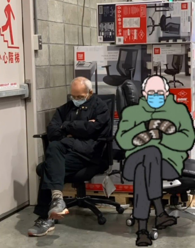 Photo Of The Day Taiwanese Bernie Sanders Seen At Costco Taiwan News 2021 03 10
