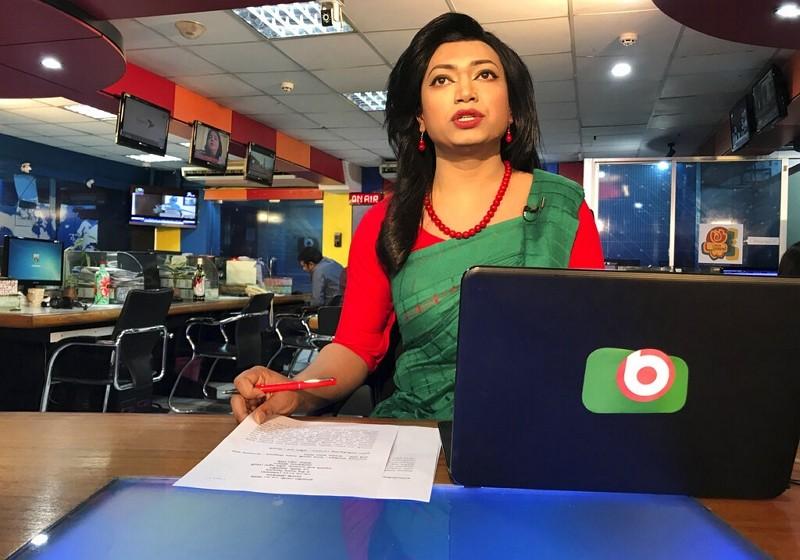 孟加拉首位跨性別主播席希爾(美聯社)