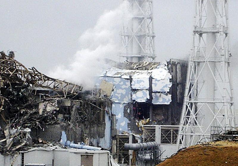 福島第一核電廠4號反應爐災後畫面(美聯社)