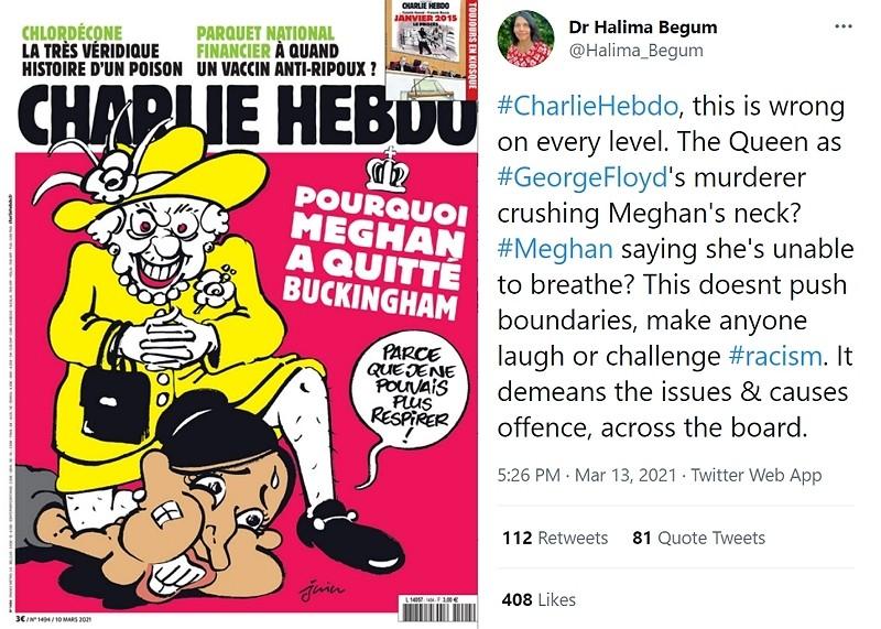 查理週刊漫畫引發軒然大波(推特截圖)
