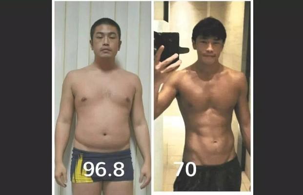 Huang at 96.8 and 70 kg. (Facebook, Huang Ming-an photos)