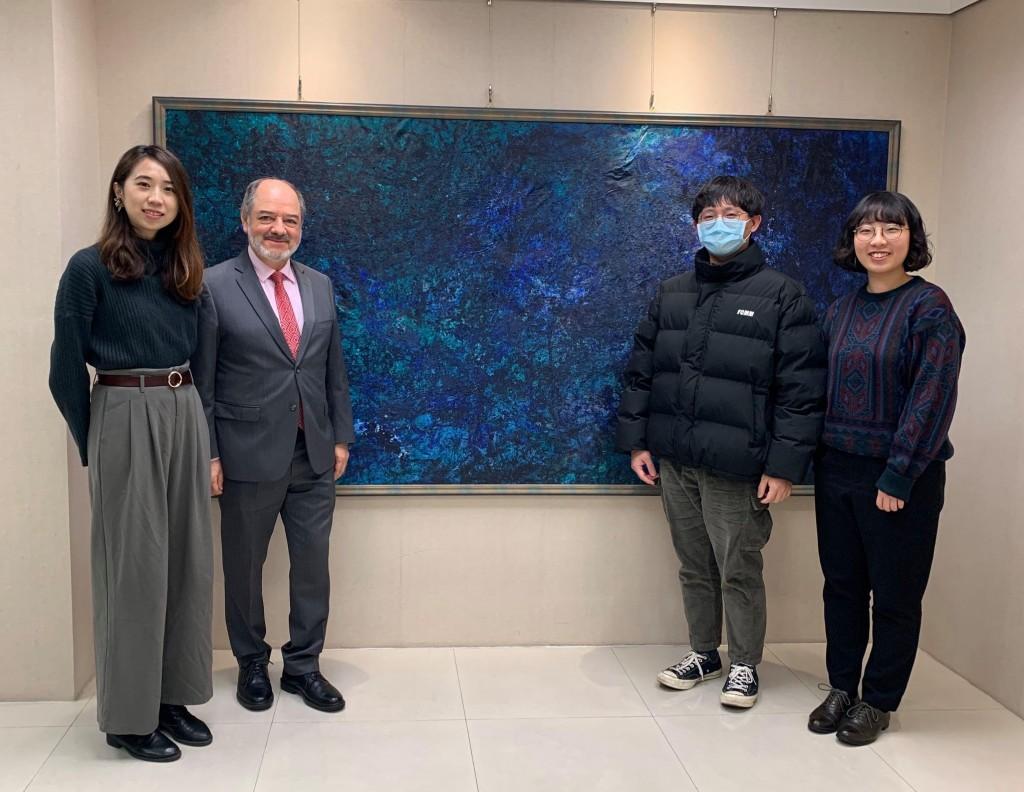 台灣數位外交協會2月份拜訪墨西哥辦事處 (來源 台灣數位外交協會臉書)