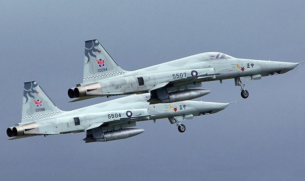 File photo of 2 Taiwan F-5E fighter jets. (ROCAF photo)