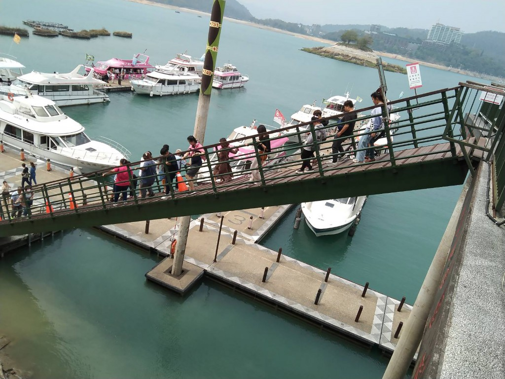 Drought has drastically lowered water level of scenic Sun Moon Lake in Nantou County.